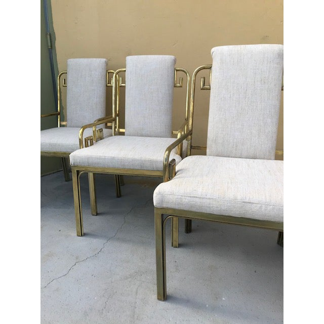 Mastercraft Mastercraft Greek Key Dining Chairs - Set of 6 For Sale - Image 4 of 8