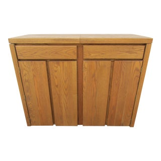 Conant Ball Mid-Century Modern Oak Server on Casters For Sale