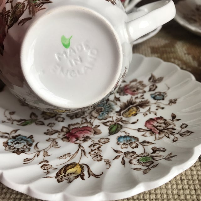 Johnson Brothers Staffordshire Bouquet England Tea / Coffee Set - 11 Piece For Sale - Image 4 of 9