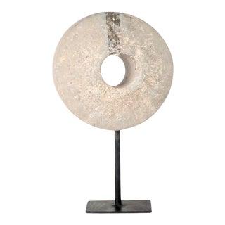 Antique Turkish Stone Wheel On Custom Iron Stand For Sale