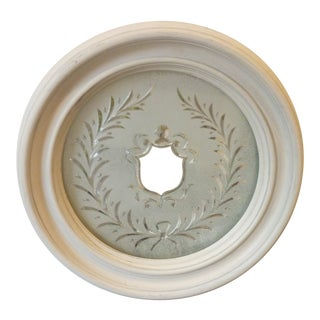 Heraldic Etched Round Mirror For Sale