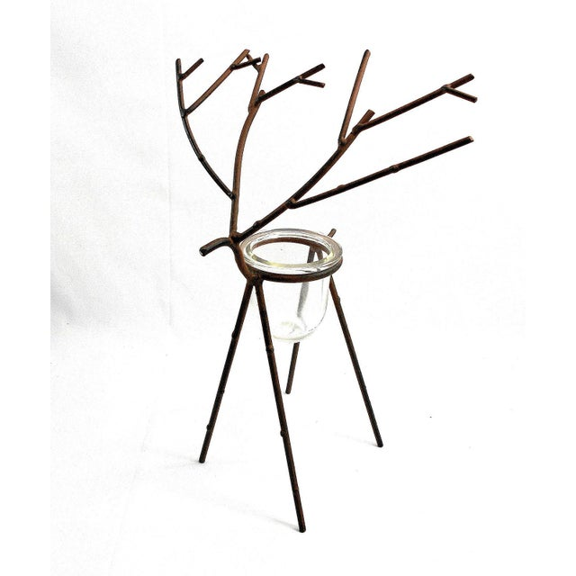 Deer Figure Votive Candle Holder For Sale - Image 4 of 8