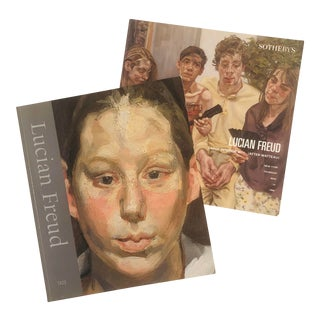 2002 Tate Museum Lucian Freud Exhibition Book & 1998 Sotheby's Auction Catalog For Sale