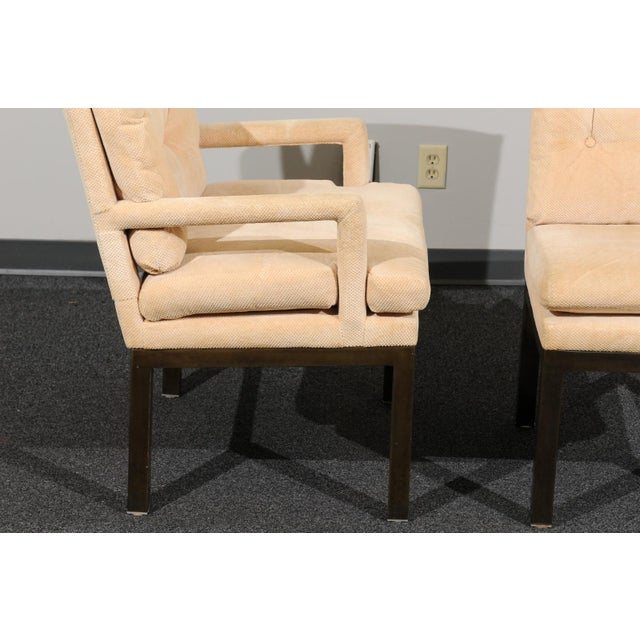 Sophisticated Set of 10 Brass Parsons Dining Chairs by John Stuart, Circa 1968 For Sale - Image 10 of 13