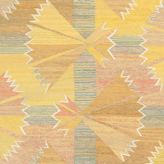 FJ Hakimian 1940s Swedish Flat Weave Rug by Barbro Nilsson- 5′3″ × 8′4″ For Sale - Image 4 of 6
