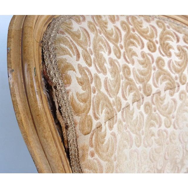 Antique Louis XV Style Provincial Velvet Fauteuil Armchairs- a Pair For Sale - Image 11 of 13