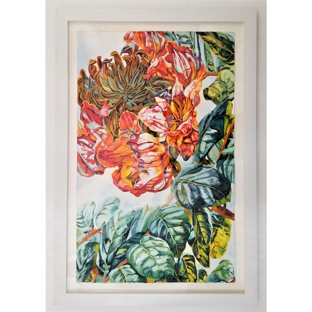 Offering an original watercolor by the world renowned artist Patricia Tobacco Forrester. This watercolor is on French...
