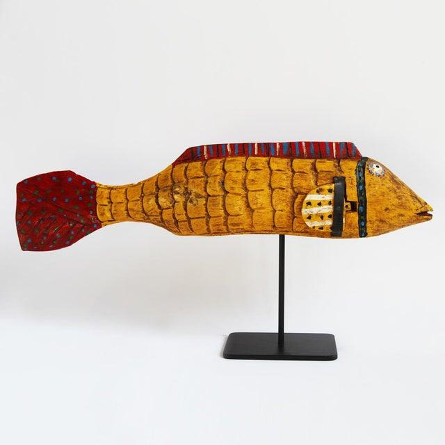 African Mali Mustard Bozo Fish Puppet - Image 2 of 3