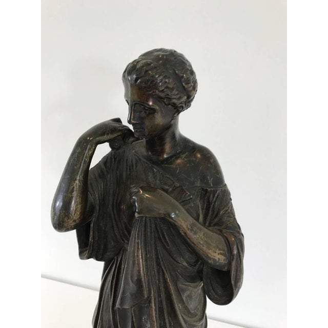 Late 19th Century 19th Century Grand Tour Bronze Figure of Diana For Sale - Image 5 of 8