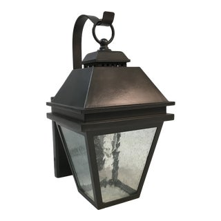 Feiss Bronze Outdoor Seedy Glass Wall Lantern For Sale