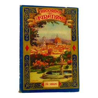Art Deco Florence, Italy Souvenir Book For Sale