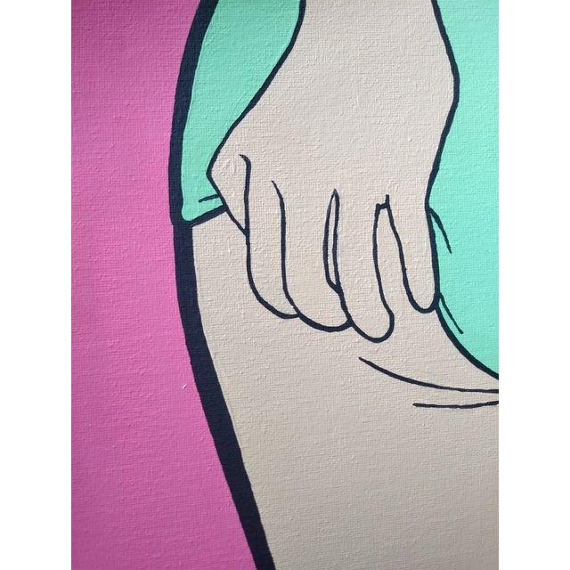 Lictenstien Inspired Original Pop Art Acrylic Painting For Sale - Image 9 of 11