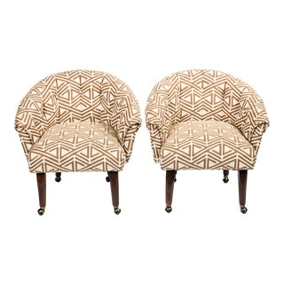Vintage Tufted Chairs - A Pair