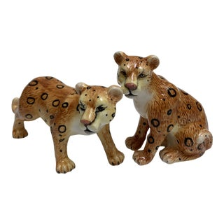 Vintage Tiger Salt and Pepper Shakers, a Pair For Sale