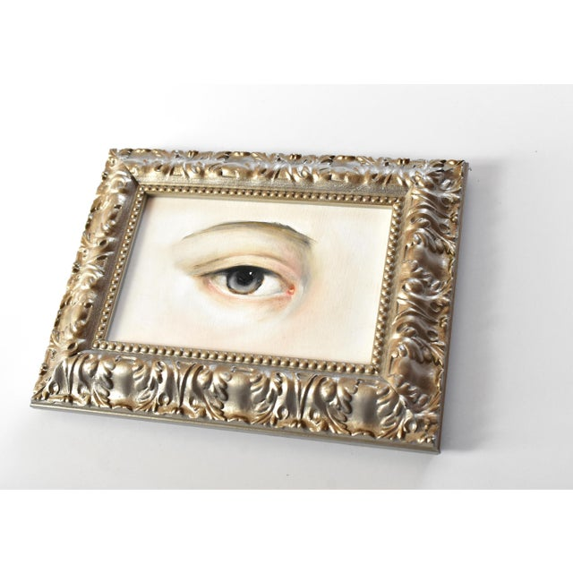 Contemporary Lover's Eye Oil Painting by Susannah Carson For Sale In San Francisco - Image 6 of 7