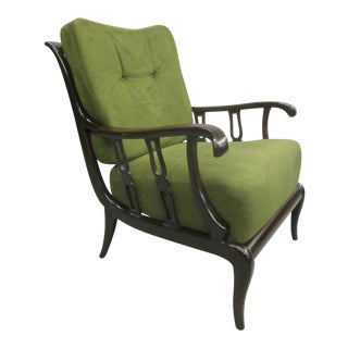 Pair of Italian Mid-Century Modern Neoclassical Lounge Chairs by Paolo Buffa