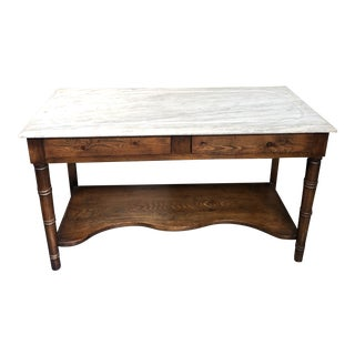 English Traditional Marble Topped Washstand/Console For Sale