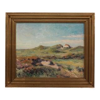 1932 Post-Impressionist Pasture Landscape by Einar Olsen