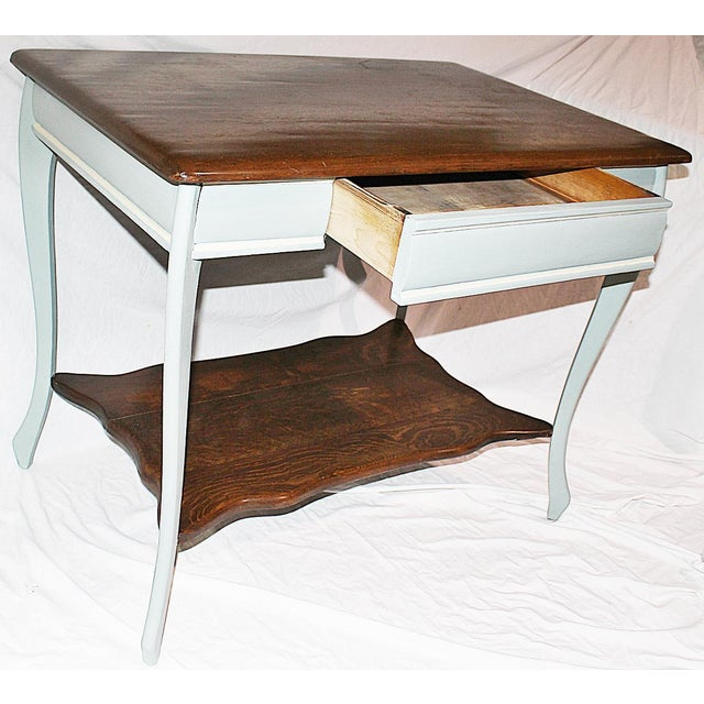 19th Century Early American Oak Writing Desk For Sale - Image 4 of 9