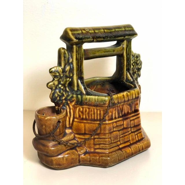 "McCoy Pottery 1940s – 1960s Mid Century Wishing Well Flowerpot. 6""W x 4""D x 6""H"