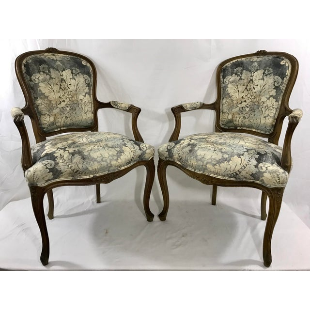 1900 - 1909 Louis XV Style Arm Chair For Sale - Image 5 of 6