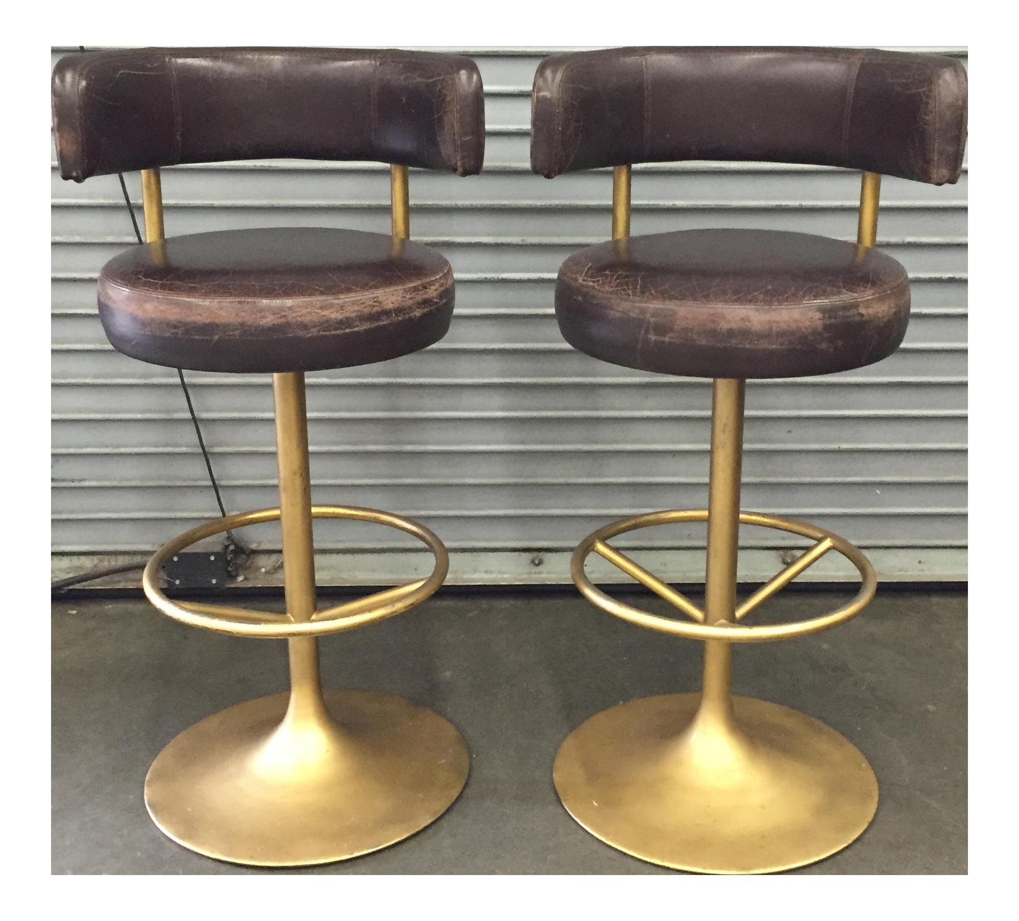vintage used mid century modern bar stools chairish