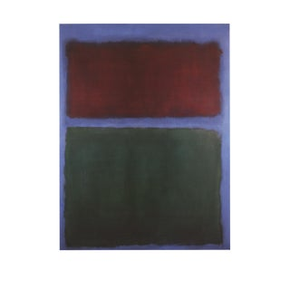 Mark Rothko, Earth & Green, Edition: 2000, Offset Lithograph, 1997 For Sale
