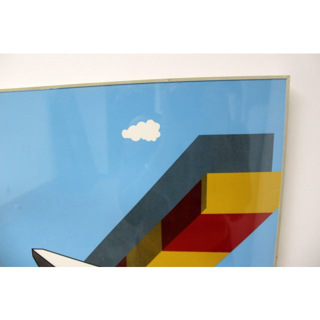 1968 Mid-Century Modern Allan d'Arcangelo Abstract Surrealist Print For Sale In Detroit - Image 6 of 9