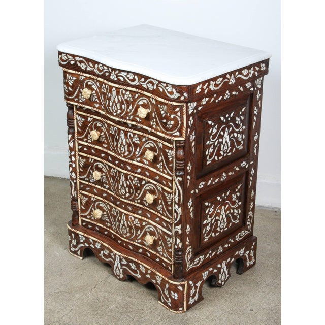Mid 20th Century Pair of Syrian Mother-Of-Pearl Inlay Nightstands For Sale - Image 5 of 10