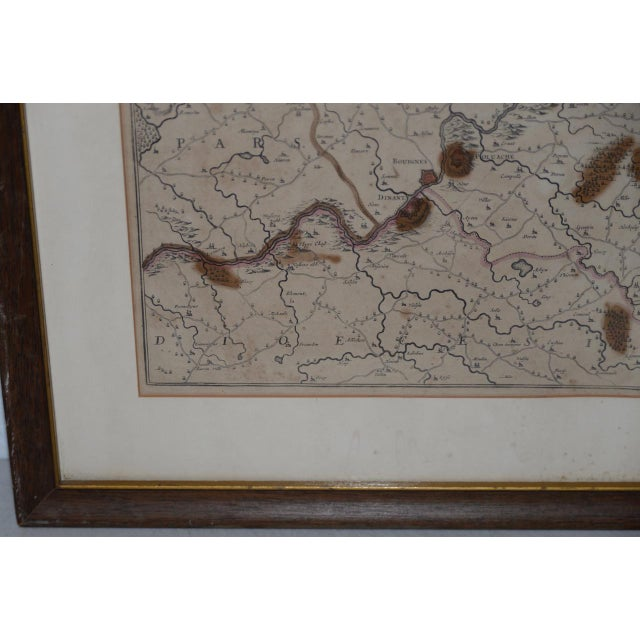 Illustration 18th Century Map of the Historic County of Namur, Belgium For Sale - Image 3 of 9