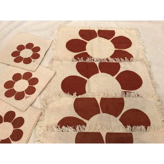 Vintage Floral Placemats & Napkins - Set of 8 For Sale In Dallas - Image 6 of 10
