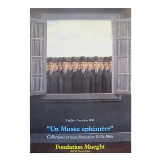 "1986 Original Rene Magritte Exhibition Poster - ""Musée Éphémère"" Fondation Maeght For Sale"