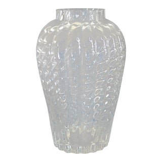 "Tiffany & Co. ""Oriental"" Crystal Glass Flower Vase For Sale"