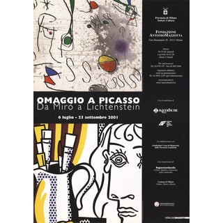 Lichtenstein & Miro-Homage to Pablo Picasso-2001 Poster For Sale