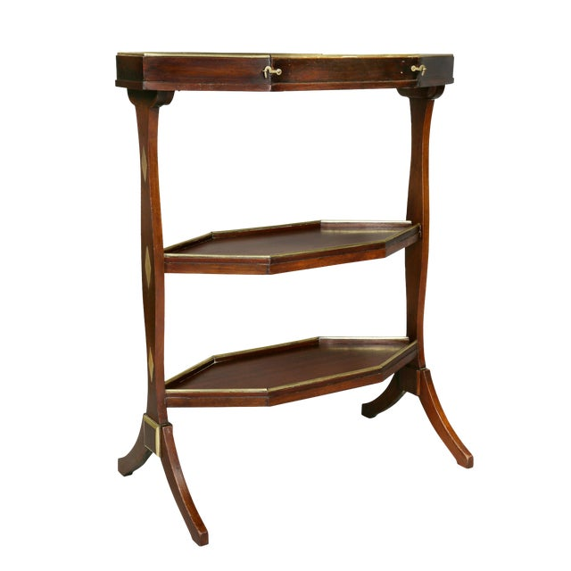 Directoire Mahogany and Brass Mounted Table For Sale