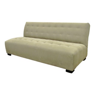 Crate & Barrel Mitchell Gold Modern Plus Armless Sofa Loveseat Couch 336-003t-20 For Sale