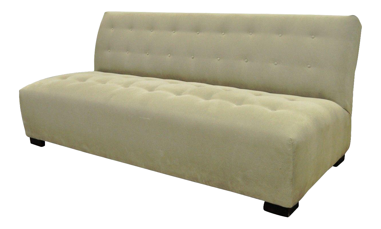Exceptionnel Crate U0026 Barrel Mitchell Gold Modern Plus Armless Sofa Loveseat Couch  336 003t 20