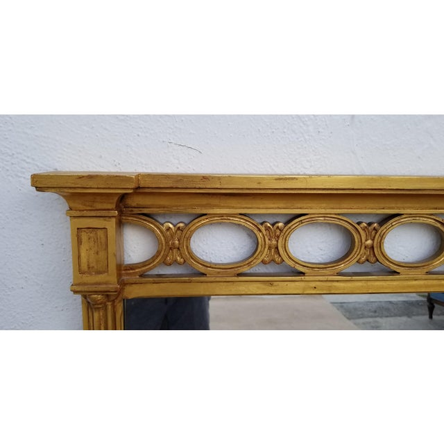 1970s Hollywood Regency John Widdicomb Gold Carved Wood Wall Mirror For Sale - Image 4 of 11