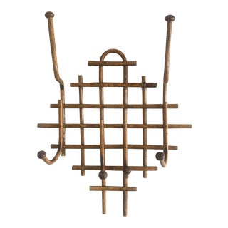 Vintage Bamboo Wall Rack For Sale