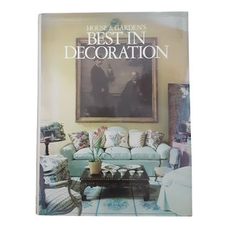 "House and Garden Magazine "" Best in Decoration"" Interior Design Book 1987 1st Edition For Sale"