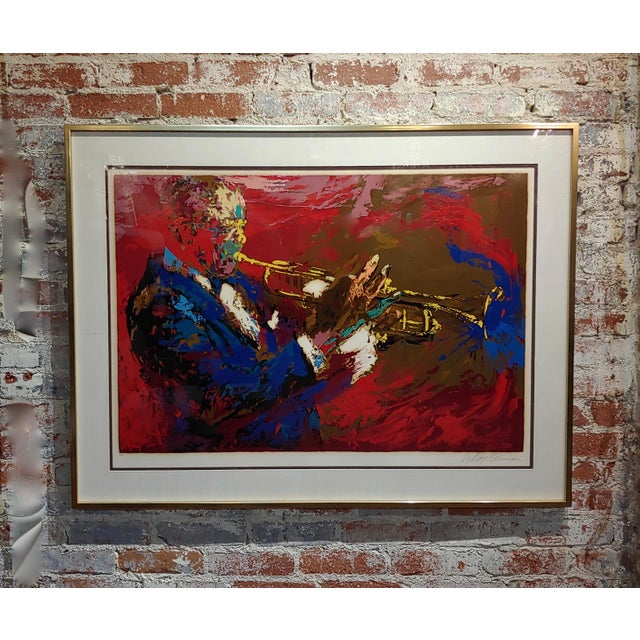 1976 Portrait Silkscreen of Satchmo Louis Armstrong by Leroy Neiman For Sale - Image 10 of 10