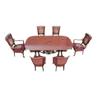 Phyllis Morris Conversion Console Dining Table With Set Of 6 Chairs