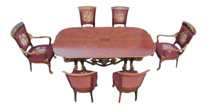 Phyllis Morris Conversion Console/Dining Table With Set Of 6 Chairs |  Chairish