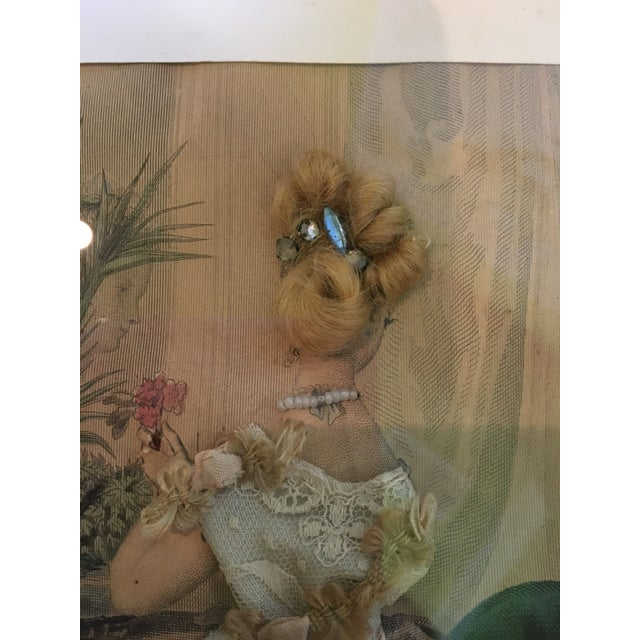 Textile 19th Century French Fashion Diorama For Sale - Image 7 of 8