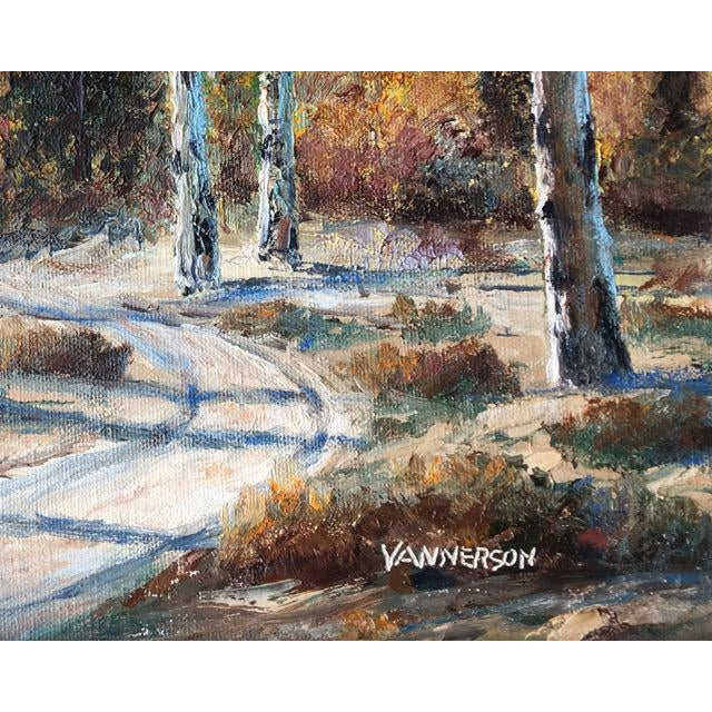 Masonite Autumn Aspens Original Painting For Sale - Image 7 of 9