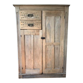 Antique Distressed Cupboard For Sale