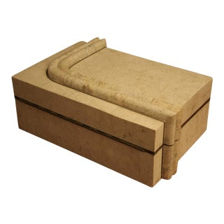 Maitland Smith-Style Travertine Chest For Sale
