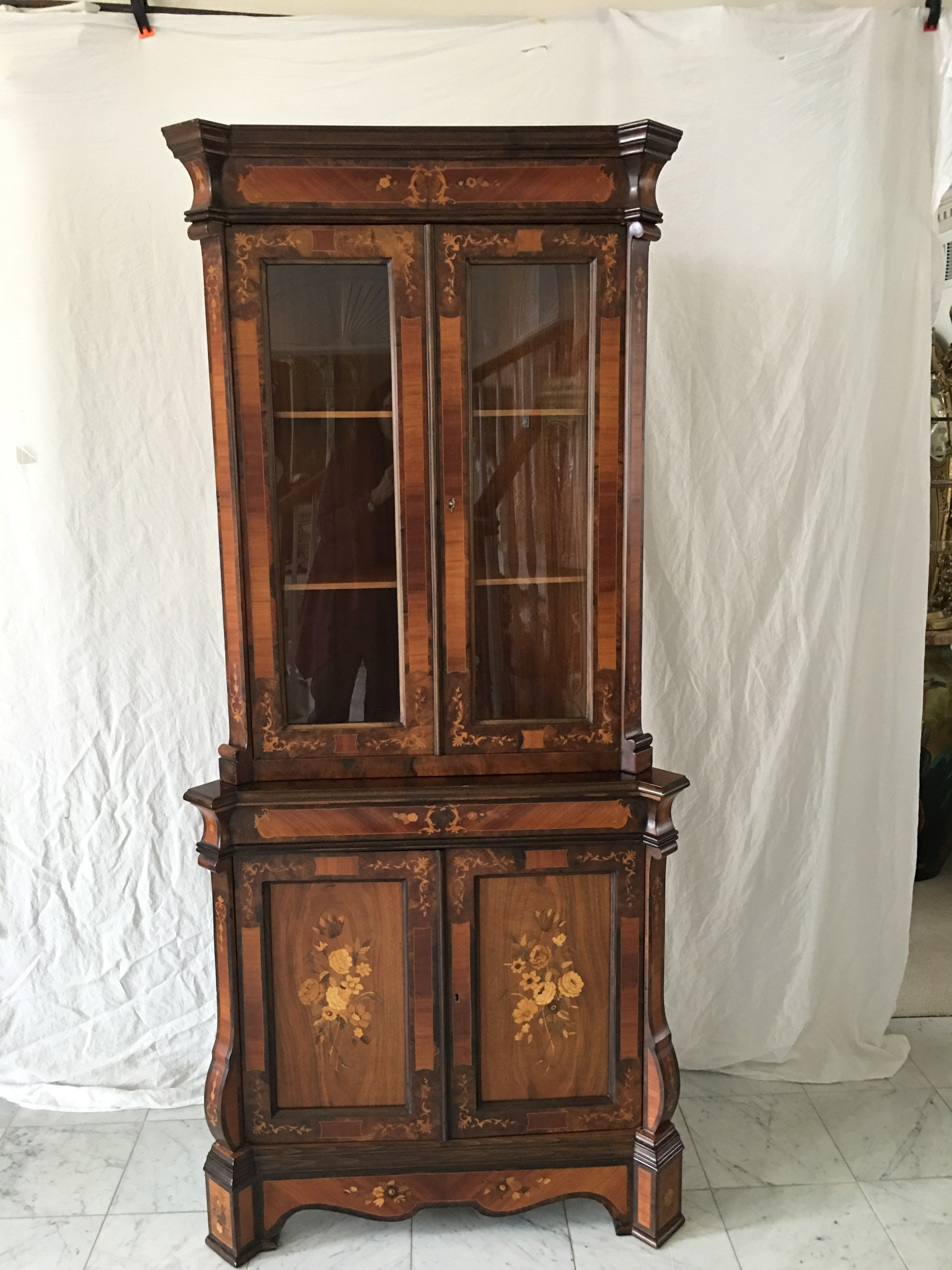 Inlaid Marquetry Corner Cabinet For Sale   Image 11 Of 11