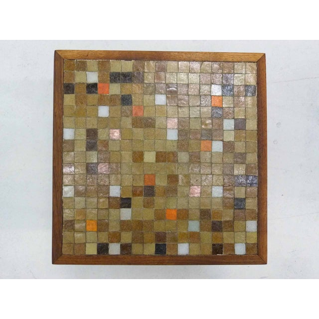 Mid Century Mosaic Tile Side Table - Image 4 of 7