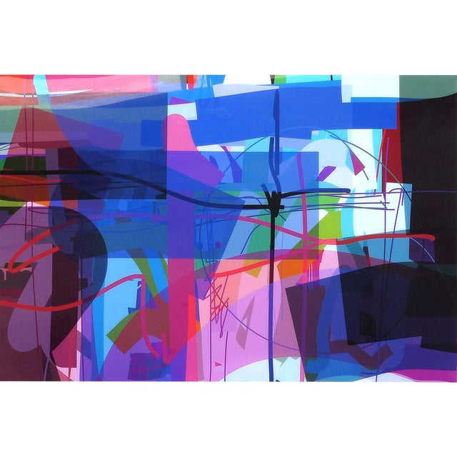 """Abstract Archival Digital Fine Art Print """"Treasure Island"""" by William P. Montgomery For Sale"""